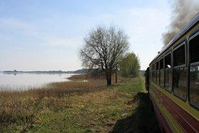 Rozpoczęcie sezonu turystycznego 2005 na Gnieźnieńskiej Kolei Wąskotorowej z Px48-1785.