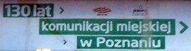 130 lat komunikacji miejskiej w Poznaniu.