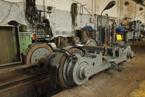 Hala napraw - wózek toczny od wagonów 803N.