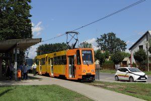 803N #37 i M6S #316 na krańcówce Plac Wolności w Konstantynowie Łódzkim.